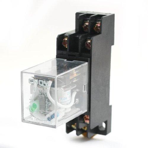24V DC COIL 8Pin DPDT Green Light General Purpose Power Relay w Sockel de -