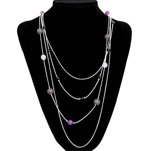 Le nouveau Joker de perles collier accessoires femmes pull