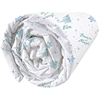 Disney Frozen Dream Drap Housse Coton, Bleu Ciel, 90 x 190/200 cm