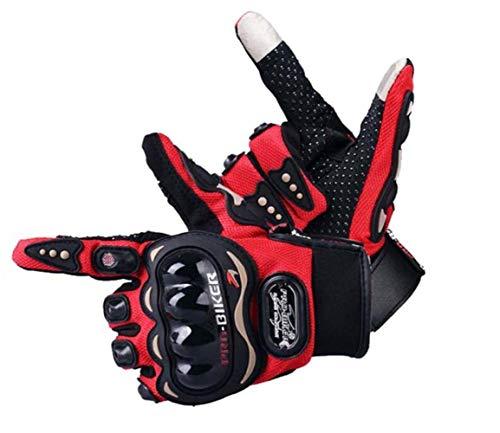 STZHIJIA Gloves Motorrad Handschuhe Moto Radfahren Motocross Handschuhe rot XL