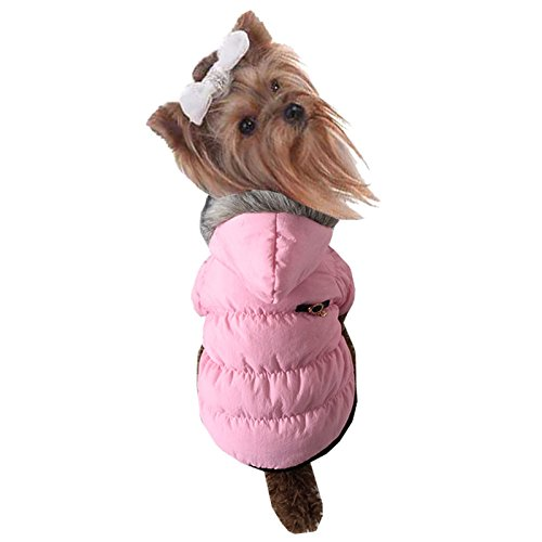 pineocus Puff Kapuzen Stil Pet Hunde Winter Coat Rose S
