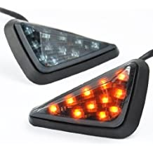 KT-SUPPLY - Intermitente triangular con 11 bombillas LED color ámbar para Kawasaki Honda Yamaha Suzuki, motos de carretera
