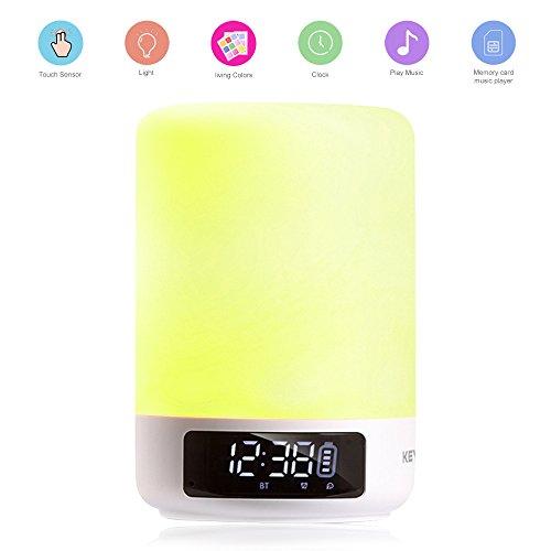 Version 2018: keynice Multicolor Nachttischlampe, LED Schreibtischlampe Sensor Touchscreen Tischleuchte, mehrfarbig dimmbar Licht, USB wiederaufladbar Nachtlicht für Familie Büro enfants-blanc (Tippen Sie Auf Licht)