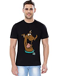 The Souled Store Scooby Doo Scooby Cartoons Printed Premium BLACK Cotton T-shirt for Men Women and Girls