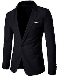Harrms hommes Costume à manches longues Slim revers costumes d'affaires polyester&fibre Taille 48 ~ 60 Pour Travail, fêtes, mariages