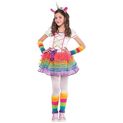 Regenbogenfarbenes Einhorn Kinderkostüm Mädchen