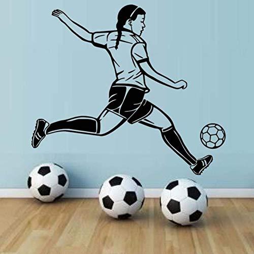 (Pbldb Leidenschaft Spieler Fußball Hohe Wasserdichte Tapete Wandbild Fußball Spieler Wandaufkleber Für Mädchen Schlafzimmer Wände Decor50X44 Cm)