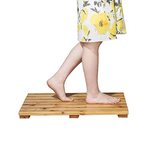 LAAN Badematten, Rutschfeste hölzerne Badezimmer-Duschmatte, Gesundheits-Massage-Auflage, rechteckig 60 X 40cm, natürliches umweltfreundliches (Gesundheit Bild 2. Auflage)