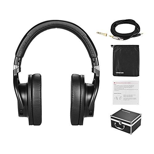 ammoon TAKSTAR PRO Auriculares sobre la oreja 82 Estudio profesional Monitor dinámico Auricular con caja de aleación de aluminio