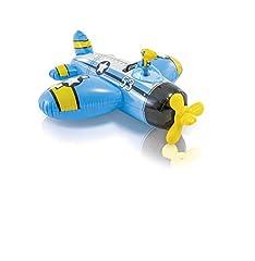 Idea Regalo - Intex 57537 - Cavalcabile Elicottero, 132 x 130 cm, Multicolore , Modelli/Colori Assortiti, 1 Pezzo