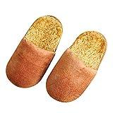Inverno Pantofole Peluche Cotone Scarpe da Casa Morbido Antiscivolo Pantofole per Adulti Autunno Inverno Calde Scarpe per la Casa Sembrano Panini in Cotone Peluche