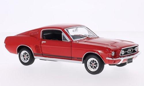 ford-mustang-gt-rot-1967-modellauto-fertigmodell-welly-124