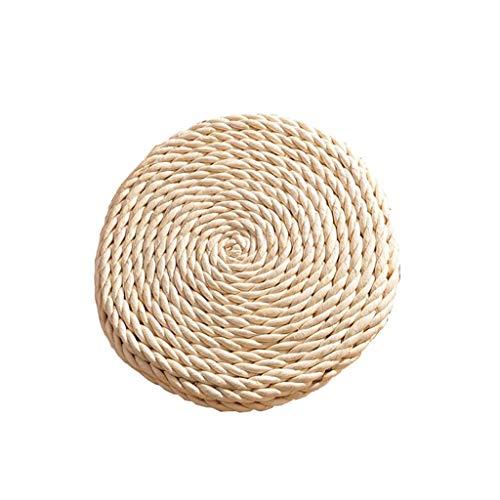 Ccf Tatami Kissen Stroh Stroh Mais Woven Futon Kissen Weiß Kissen Dicke Runde Futon Umweltschutz (größe : Durchmesser 50cm) -