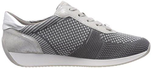 ara Damen Lissabon Sneaker Grau (Grau-Hellgrau, Silber 10)