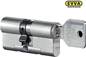 EVVA 3KS plus cylindre double haute avec 4 clé, Longueur (a/b) 46/51mm (c=97mm), u d'urgence. Fonction du risque BSZ, spécial Forage-u. Protection KZS à deux faces, modulaire Procédé de construction SYMO