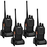 Greaval Walkie Talkies Rechargeable Long Distance 2 way Radio for Adults UHF 400~470 MHz 16 Channel with Earpieces (4 pack)