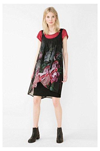 DESIGUAL - Vestito da donna a manica corta giorgia straps 44 (xl) nero