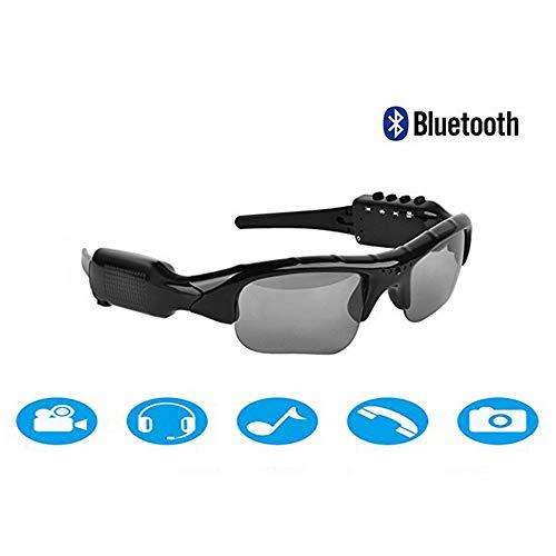 ddellk Sonnenbrille Kamera, Bluetooth V4.1 Sport Smart MP3-Funktion Kamera Brille HD Sonnenbrille Sport Outdoor-Reitbrille