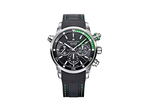 91e437b34ad Maurice Lacroix Men s 44mm Rubber Band Automatic Watch PT6018-SS001-331-1