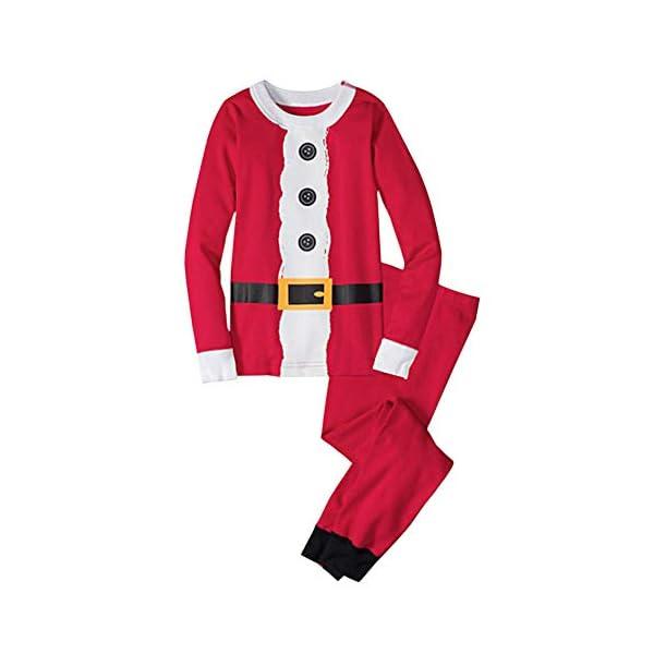Goyajun Familia Navidad Papá Noel Pijama - Adulto Mujer Hombre Niños Muchachos Muchachas PJs Ropa de Dormir Familia… 2
