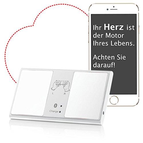 Mobiles EKG Gerät mit Bluetooth - ideal für unterwegs und zuhause. Tragbarer Ereignis-Rekorder mit einfacher Bedienung üder Smartphone oder Tablet. Klein und handlich im Taschenformat - EKG Gerät mobil