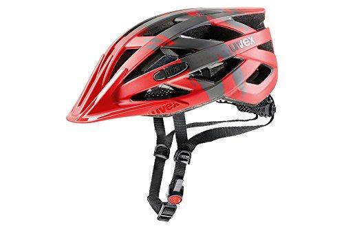 Uvex Erwachsene I-VO CC Fahrradhelm, rot (red darksilver mat), 56-60 cm