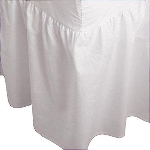 Arlinens Valance-Spannbetttuch, aus Baumwoll-Polyester-Mischgewebe, unifarben, in verschiedenen Farben und Größen erhältlich, Polycotton, weiß, King Size