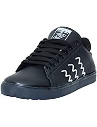 Black Tiger Shoes for Men's Synthetic Leather Casual Shoes and Sneakers 8043-Black