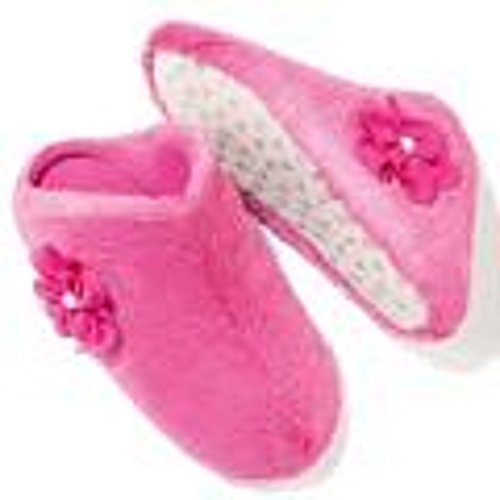 avon-miracle-flower-pink-fluffy-faux-fur-acrylic-slippers-size-uk-5-6-eu-38-39