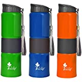 Tuelip Set Of 3 Sports Stainless Steel Water Bottle For School Going Kids Girls & Boys,College,Gym,Sports Water Bottle 750 ML