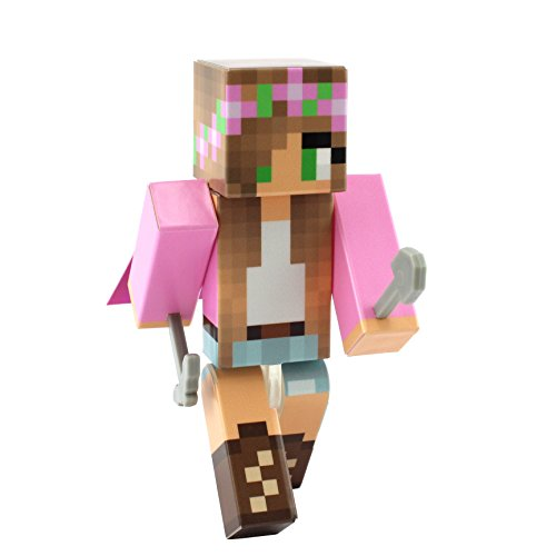 EnderToys Pink Flower Girl Action Figure by [Official Minecraft Product]