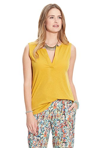 Balsamik - Top sans manches encolure V - femme Jaune curry