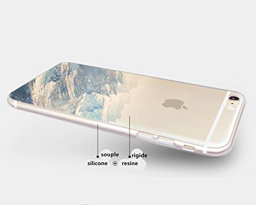 Incendemme Handyhülle TPU Schutzfolie Hülle mit Landschaft Design (für iPhone 6/ 6s, 10) 7