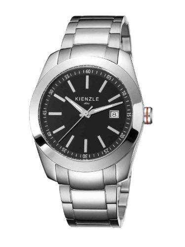 Kienzle K3011013042-00005 - Reloj analógico de cuarzo para hombre con correa de acero inoxidable, color blanco