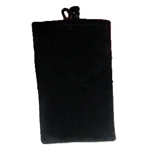 RotSale® 1x 6,0 Zoll Schwarz Universale zwei Schicht Mikrofaser-Tasche Multifunktion für Festplatte, Handy, Power Bank Externer Akku oder Navi-Gerät