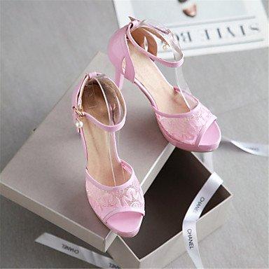 LvYuan Damen-Sandalen-Kleid Lässig Party & Festivität-maßgeschneiderte Werkstoffe-Stöckelabsatz-Komfort Neuheit-Schwarz Rosa Weiß Pink