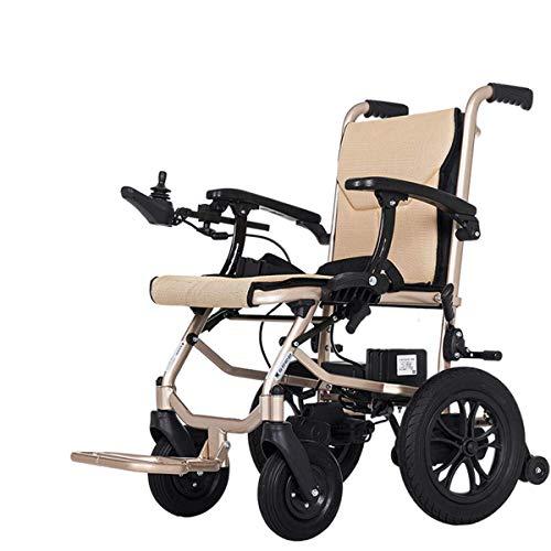 Cajolg Elektrorollstuhl Faltbar Leicht, 360 ° Joystick Lithiumbatterie Elektro Mobilitätshilfe Elektrischer Rollstuhl, Medizinischer Leichte Roller,Tragbare Ältere Behinderte Hilfe Auto