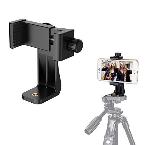 Handy Stativ Adapter Smartphone Halterung Adapter Handyhalter Anwendung auf 1/4-20 Stativ Tripod, Einbeinstativ, Selfie Stick, für iPhone X/XS/XR/XS Max/8/7 Plus, Galaxy S9/S8 ... ...