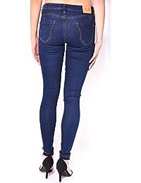 Jeans skinny bleu brut push-up
