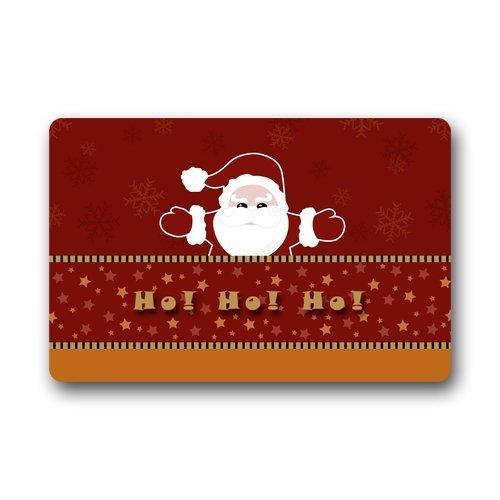 best bags Paillasson en Tissu et Caoutchouc antidérapant Durable pour intérieur/extérieur Motif Père Noël avec traîneau et élans Bleu foncé 60 x 40 cm, 69, 23.6\