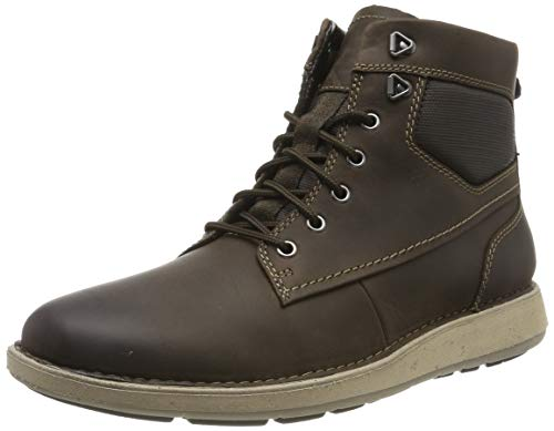 Clarks Herren Un Larvik Peak Klassische Stiefel, Braun (Brown Leather Brown Leather), 44.5 EU
