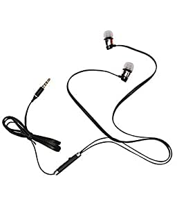 SPAM Elegent Earphone with feature of Noise Cancellation || Premium Look||3.5 mm Jack ||Super Soround Sound || Headphone || Earbuds || headset || with Mic ||Compatible with all Micromax Canvas Lite A92 & All Android Phone