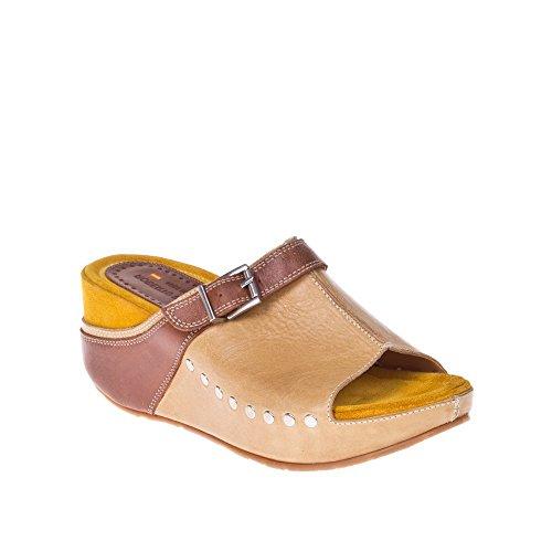 ROBERTO BOTELLA - <p>   Sandale confort multicolore  </p>   Beige