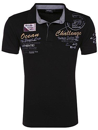 behype. Poloshirt Challenge T-Shirt 20-2728 Schwarz L