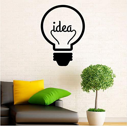 Lsfhb Idee Symbol Glühbirne Kunst Vinyl Wandaufkleber Kreative Design Wandtattoos Wandbilder Für Kinder Wohnzimmer Dekorationen44X60 Cm
