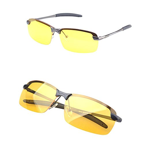 RUNGAO Gafas de sol para hombre de alta gama, visión nocturna, polarizadas, para conducción, aviador, gafas de sol