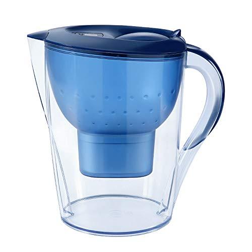 Gaone Alkalischer Wasserfilterkrug von Belebtem Wasser Aktivkohle Wasserfilter Aufsatz Wasserfilter Luftreiniger Maschine ABS Lebensmittelkontakt Nein ASA Gefährliche Stoffe 3.5L,Blue - Alkalische Wasser-tropfen