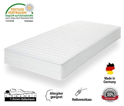 *HydroVital-Spa 16 Premium Kaltschaummatratze 7-Zonen, Härtegrad 2in1 H2 & H3, Made in Germany Rollmatratze (90 x 190 cm, H2 & H3)*
