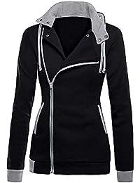 Manteau à Capuche à glissière Oblique des Femmes, ZahuihuiM Hiver Chaud à  Capuche Coupe Slim Veste à Manches Longues Blouse… 7a1191d3d5f7
