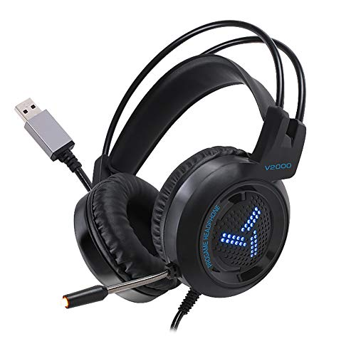 NOCTIC Wired Gaming Headset, Sound für PC, Xbox One, PS4, Switch, Mobiltelefon mit Noise Cancelling-Funktion, Ultra-robuste Gaming-Kopfhörer für PS4 / PC/Xbox One/Nintendo-Switch -